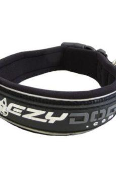 ezydog halsband i svart med reflex med plats för id-tag