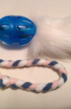 Mjuk belöningsleksak för rolig hundträning med päls och boll